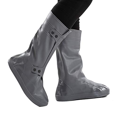ZHANGGUOHUA Couverture de Pluie Grand Pluie Tube imperméable antisalissure antidérapante Enfant Adulte Hommes et Femmes d'extérieur Chaussures imperméable Couverture (Color : Dark Gray, Size : 33)