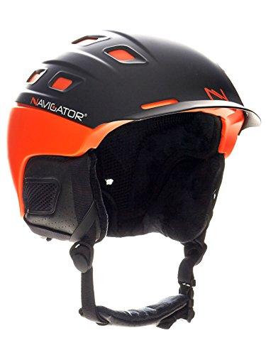 NAVIGATOR PARROT Ski-Helm und Snowboardhelm mit TÜV und CE-zertifiziert, dank innovativer Kombination aus ABS und Inmould Technologie hat dieser Helm weniger Gewicht bei gleichbleibender Sicherheit (Orange, M-XL (58-62cm))