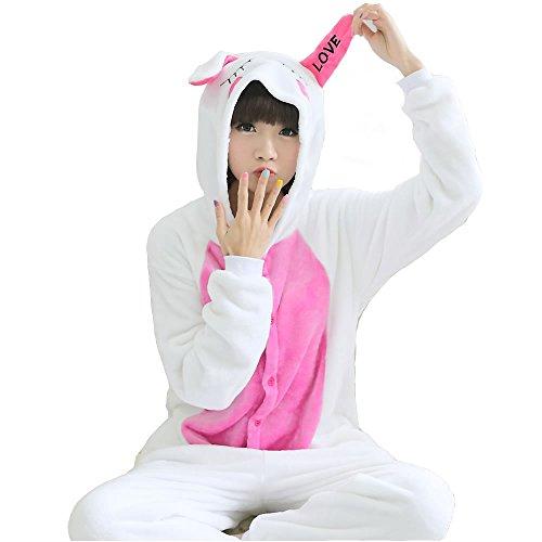 兎 コスプレ パジャマ 大人用 アニマル 着ぐるみ ルームウェア 仮装 コスチューム ハロウィン クリスマス 男女兼用 (XL)