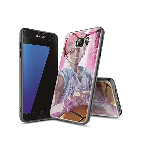 SviXXaYN Samsung Galaxy S7 Edge Funda, Parte Trasera de Cristal Templado + Funda Protectora de TPU de Silicona Suave, Compatible con Samsung Galaxy S7 Edge #009(B)