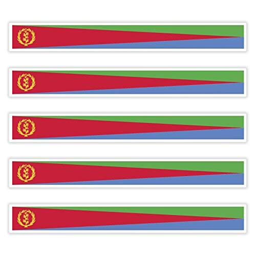 FanShirts4u 5 x Aufkleber Eritrea f. KFZ Auto Motorrad Boot Flagge Fahne Afrika