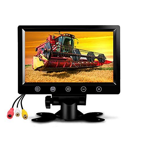 """QWERDF Monitor De Reserva De La Cámara, 9"""" Pantalla Digital HD del Coche TFT LCD En Color con 2 Entrada De Vídeo para Cámara De Visión Trasera (N Altavoz) para Bus De Camiones Remolques"""
