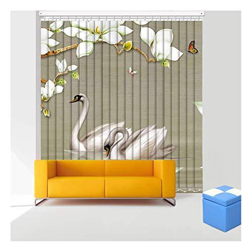 Cortinas Verticales de PVC venecianas, Impermeables, fáciles de Limpiar, no se desvanecen, Control de luz, instalación rápida, balcón, Oficina, Personalizable (Color: Multicolor, tamaño: 50x130cm)
