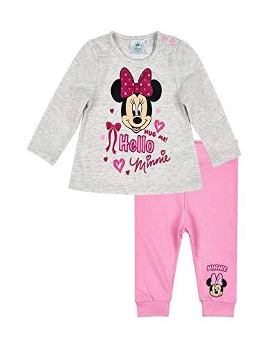Minnie Ensemble Pantalon et t-Shirt bébé Fille Gris/Rose de 3 à 24mois - Gris/Rose, 6 Mois