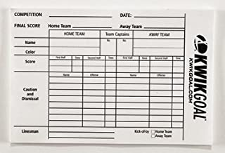 Kwik Goal Referee Score Sheets