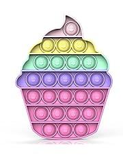 Bdwing Push and Pop Bubble Sensory Fidget Toy, siliconen sensorisch spelden, anti-stress speelgoed vingerspeelgoed autisme voor ADHD speciale behoeften knijpen speelgoed (Ice Crean)