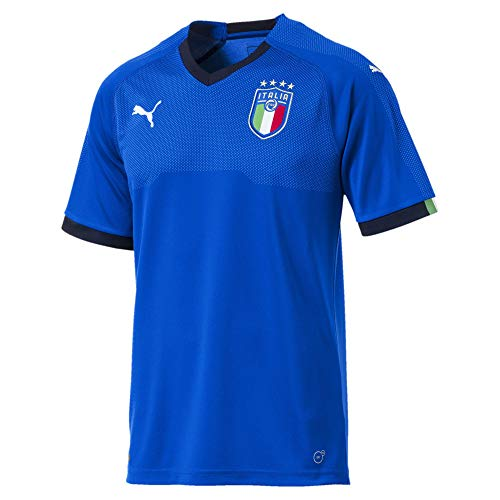 PUMA Herren FIGC Italia Home Shirt Replica SS, Team Power Blue-Peacoat, M