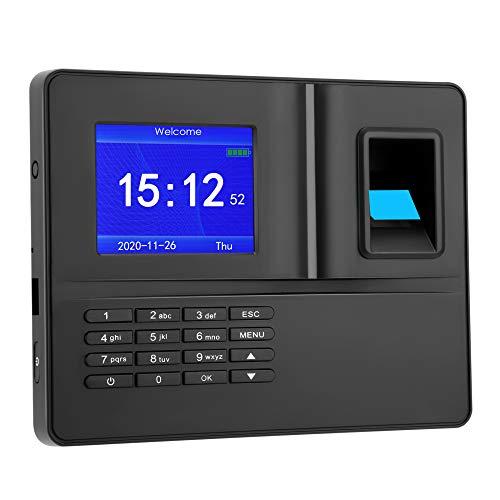 Vogvigo Relojes de Tiempo para empleados, Huella Digital Contraseña Máquina de Asistencia Registro de empleados Registrador de nómina Reloj de Asistencia