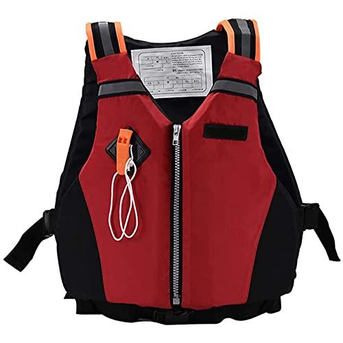 Chaleco De Natación Adultos Kayak, Pesca Portátil Pesca Portátil Pesca Surfing Vela Chaqueta Seguridad Rafting Chaleco Ajustable Al Aire Libre Ultra Luz,Rojo