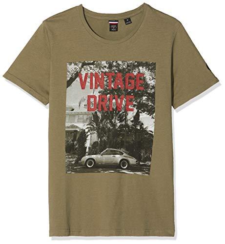 Le Temps des Cerises Herren Hhavana000000mc T-Shirt, Grün (Burnt Olive 9022), Large