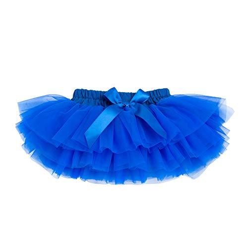 Anbaby Baby Girls Soft Tutu Skirt Toddler Ruffled Pants Diaper Cover Royal Blue 12-24M