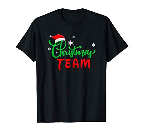 Christmas Team Regalo Natale Gruppo Famiglia Coordinati Maglietta