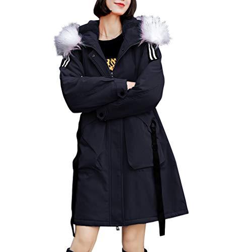 Kanpola Mujer Abrigo de Invierno cálido y Grueso Abrigo con Capucha Chaqueta Delgada Acolchada de algodón