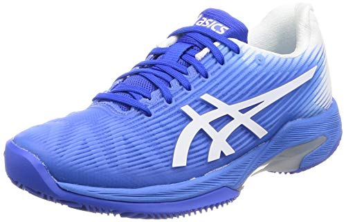 ASICS Donna Solution Speed FF Clay Scarpe da Tennis Scarpa per Terra Rossa Blu - Bianco 38