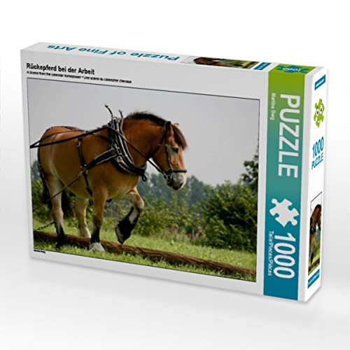 CALVENDO Puzzle Rückepferd bei der Arbeit 1000 Teile Lege-Größe 64 x 48 cm Foto-Puzzle Bild von Martina Berg