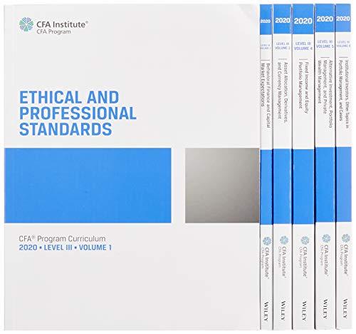 Cfa Program Curriculum 2020 Level III, Volumes 1 - 6: Box Set