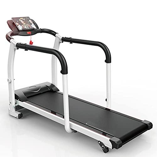 Afang Multifunktionales Elektrisches Haushalts, Klappbares Laufband Senioren Handlauf Motor Rehabilitation Laufband, Laufband Zuhause Büro