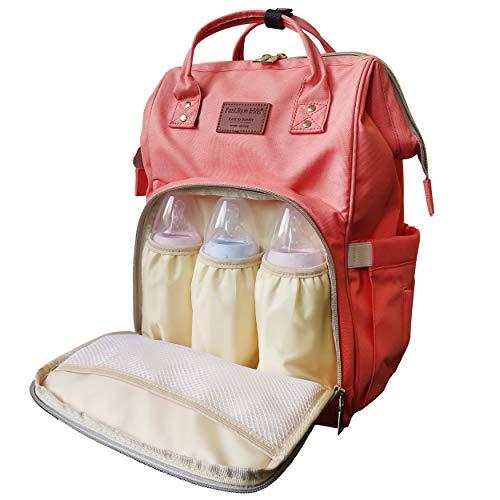 Fastique Kids® Sac à langer pour bébé – Sac à langer étanche – Sac de voyage pour maman – Beaucoup d'espace de rangement (abricot)