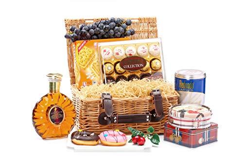Natural Wicker Hamper Basket, Xmas,Wedding,Anniversery Gift Hamper Basket, Medium