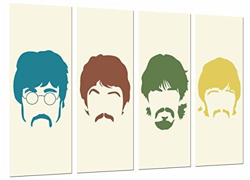Cuadros Cámara, Cuadro Fotográfico Los Beatles, John Lennon, Paul Mccartney, Famoso, Musica, Multicolor,131 x 62 cm XXL