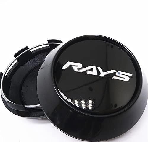 LINMAN 4pcs 68mm 62mm, Compatible con Rayos Racing Wheel Center Hub Cap Caps Caps Styling Volk CE28 TE37 Tokyo Rims Cover Logo Emblem Insignia (Color : O)