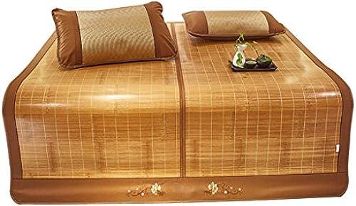 YXWzd Coole Bambusmatte Summer Collapsible Heat Dissipation Pad 0.9 1.0 1.2 1.35 1.5 1.8 2.0m (3,3 ft   4 ft   4,5 ft   5 ft   6 ft   6,6 ft) Bett (Größe   1.8m(6feet) Bed)