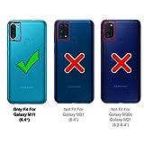 Verco Coque pour Samsung Galaxy M11, Etui Housse pour Samsung M11 / A11 Case Portefeuille Fonction de Support [Aimant intégré], Brun