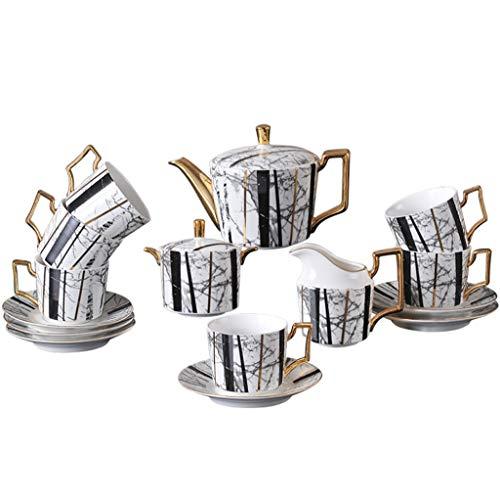 HUIXINLIANG Tea Cups and Saucers, Tea Set, Tea Cups and Saucers Set,Porcelain Tea Cups, British Coffee Cups, Porcelain Tea Set, Latte Cups, Espresso Mug