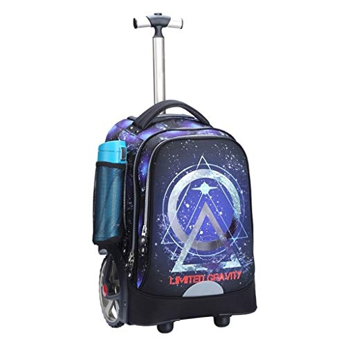 LYRWISHLY Kids Trolley Bag with Wheels - Child School Wheeled Luggage Bag Trip Zipper Backpack for Boys Girls Children Student,Multifunction Wheeled Backpack Luggage (Size : D)