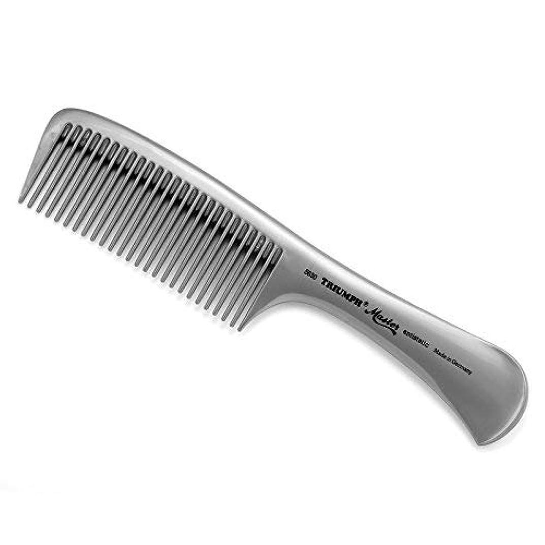 穀物アルカイック後者Triumph Master Handle Comb Silver 8.5