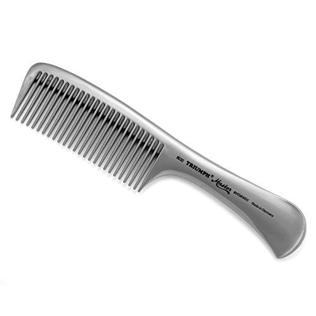 強打怠惰文Triumph Master Handle Comb Silver 8.5