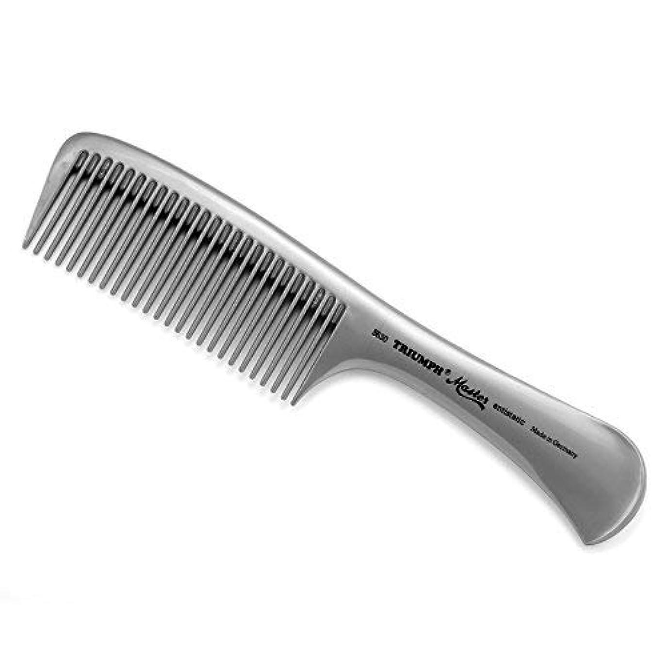 百万老人レポートを書くTriumph Master Handle Comb Silver 8.5