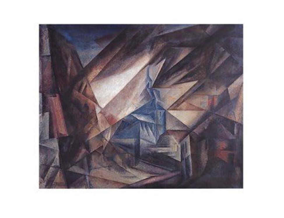 殺しますメキシコフラグラントniedergrunstet by Lyonel Feininger?–?28?x 22インチ?–?アートプリントポスター LE_27605