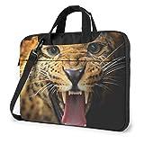 Bolso para portátil con Estampado de Leopardo, maletín de Negocios