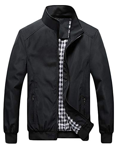 QitunC Hombre Chaqueta Bomber Plus Size Collar De