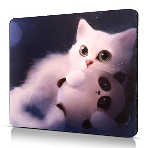 CHUQING Tapis de Souris en Forme de Chat antidérapant avec Motif Mignon Mousepad 24 x 20 cm Résistant