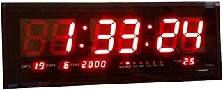 LED digital calendar living room wall clock creative electronic clock mute night temperature clock