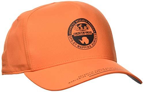 Napapijri Herren Fitch Baskenmütze, Orange (Amber Orange A44), One Size (Herstellergröße: D)