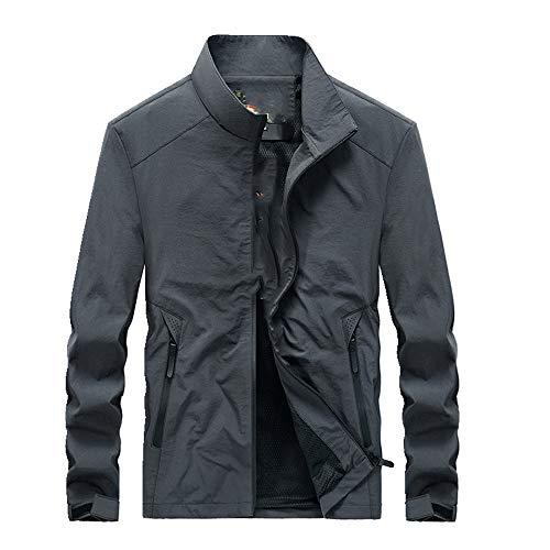 Otoño de la chaqueta de los hombres delgados casual de los hombres de la capa del collar de los deportes rompevientos primavera y otoño