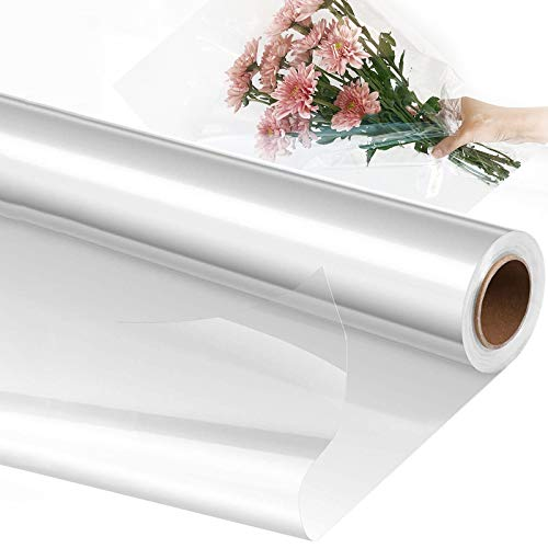 Cellophane Wrap Roll 40cm Wide by 30m Long, Food Safe Clear Plastic...