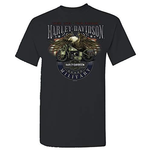 HARLEY-DAVIDSON Military - Men's Smoke Grey Graphic T-Shirt - Overseas Tour | Eagle Bike