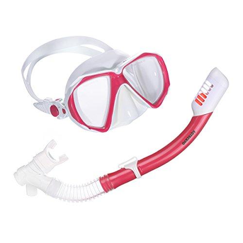 AQTECKNO Kinder Schnorchelset Maske Set Tauch-set (Pink)