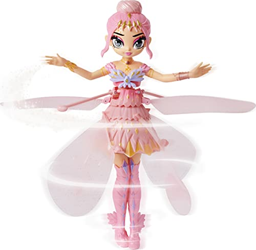 Hatchimals Pixies, Crystal Flyers Pink Magical Flying Pixie Toy, Girl Toys, Girls Gifts for Ages 6 and up