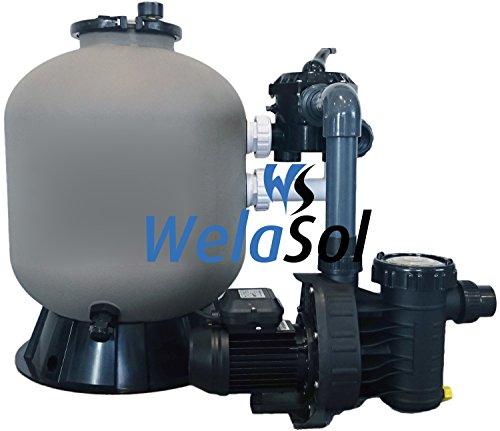 Well Solutions® Schwimmbad Sandfilter Kessel 600 Speck Pumpe 12 Komplett Set