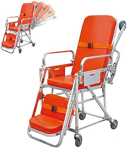 FLJMR Camilla de Ambulancia de Emergencia Ligera EMS Camilla de Hospital de Emergencia médica de aleación con Capacidad de Carga con Ruedas 350 Libras para Transferencia de Pacientes