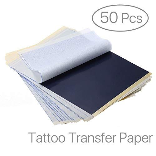 EZI 50 Blatt A4 Carbon Tattoo Pauspapier Transferpapier Schablone Selberdrucken # DE7603820
