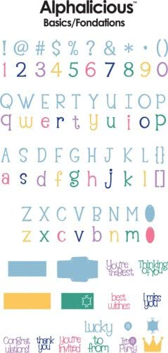 Courier shipping free Cricut 29-0287 All stores are sold Alphalicious Cartridge Font