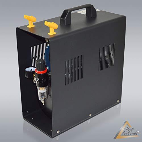 AMUR Airbrush Kompressor Duo-Power - Das Airbrush-Kit mit Doppel/Zweizylinder mit Schutzgehäuse für Künstler mit Anspruch, Grundausstattung für jedes Airbrush Set