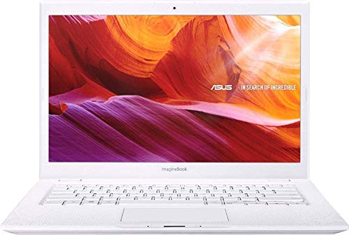 ASUS ImagineBook 14' FHD LED-Backlit Laptop, Intel Core M3-8100Y Up to 3.4GHz, 4GB RAM, 128GB SSD, Webcam, Win 10, Textured White (Renewed)