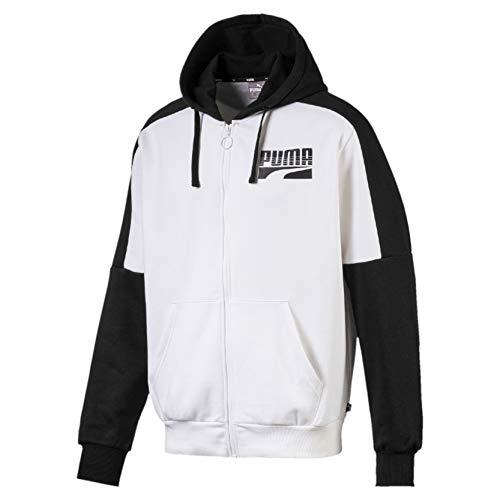 Puma 580546, Felpa Uomo, White, M